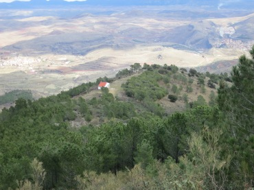"The ""refugio"" from above"